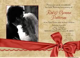 40th anniversary invitations 50th anniversary celebration photo invitation guests