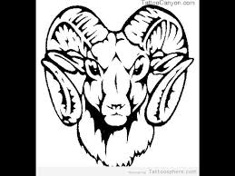wonderful aries goat head tattoo design photos pictures and