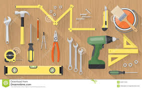 Diy Home Renovation by Home Tools Diy Toolbox Renovation Construction Stock Illustration