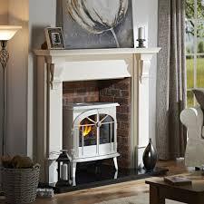 dimplex meribel electric opti myst stove in creamy white gloss