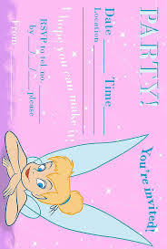 tinkerbell birthday party invitation printable best gift ideas blog