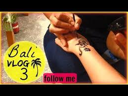 getting tattoos shopping haul bali day 3 youtube
