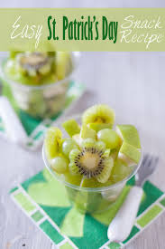 green fruit salad cute kid snack recipe for st patrick u0027s day