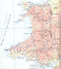 Map Of Wales England by Babelstone The Ogham Stones Of Wales