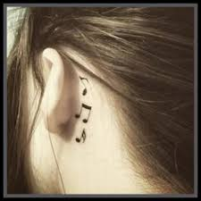 cover tattoo behind your ear i m gonna get this one day tattoos pinterest note tattoo