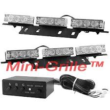 Blue Lights For Firefighters Mini Grille Lights Dash Flash Police Firefighter Ems Emt Led