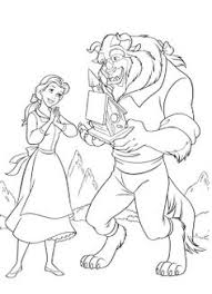princess belle reading book coloring pages coloring