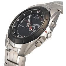 Jam Tangan Casio Remaja casio efa 119bk jam tangan pria dengan fitur thermometer jam
