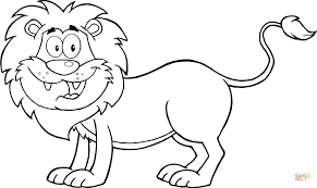 coloring page lion happy lion coloring page free printable coloring pages