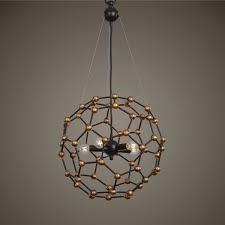 Uttermost Pendant Lights by Uttermost Molecule Five Light Pendant In Dark Oil Rubbed Bronze