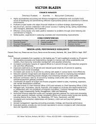 interesting professional resume examples finance in sample