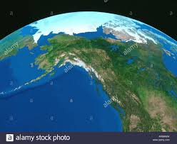 Alaska Map Images by Map Of Alaska U0026 The Arctic With Curvature Of The Earth Ndigital