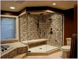 Designs For Bathrooms With Shower Modern Master Bathroom Walk In Shower Enclosure With Large Clear