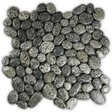 glazed speckled pebble tile pebble tile shop