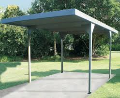 Outdoor Carport Canopy by Absco 3 X 5 5 X 2 25m Zinc Skillion Roof Single Carport Zacpsw33