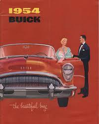 gm 1954 buick sales brochure