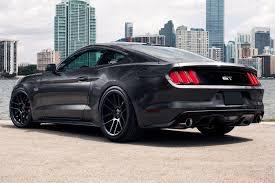 Mustang Black Chrome Wheels Velgen Vmb6 Wheels Satin Black Rims