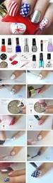 16 diy memorial day nails red white blue konad stamping short