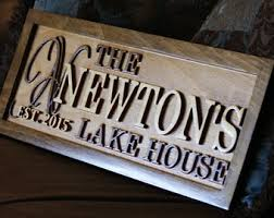 Personalized Home Decor Signs Lake House Sign Etsy