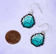 minecraft earrings minecraft enderman earrings by chiiaaki on etsy 8 00 nerdy
