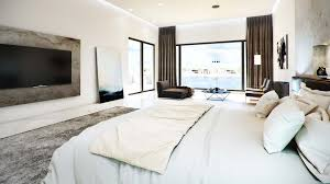 Bedroom With Tv Concrete Finished Modern Bedroom U2013 Viscato