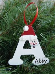 how to make diy ornaments with your initials