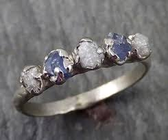 dainty engagement rings dainty sapphire diamond white gold engagement ring wedding