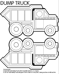 dump truck coloring u0026 coloring book