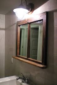 Wooden Bathroom Mirror Bathroom Mirror Frame With Shelf Bathroom Mirrors
