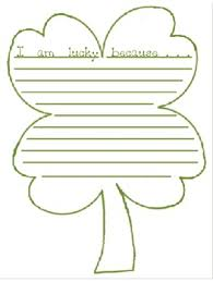 4 leaf clover template i am lucky four leaf clover writing template by krissy smith tpt
