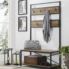 hall tree bench hall trees you ll love wayfair
