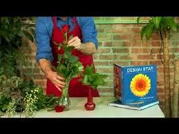 Long Stem Rose Vase How To Decorate A Long Stem Rose In A Vase Floral Design Youtube