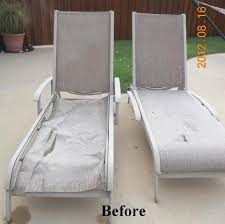 Replacing Fabric On Patio Chairs Agio Chaise Replacement Slings Using Our Chesterfield Fabric In