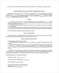 installment plan agreement template 7 land contract forms free sample example format free