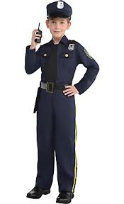 Police Halloween Costumes Boys Classic Police Officer Costume Sewing