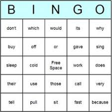 fry sight words grade dolch pre primer bingo card has site word lists by grade on this