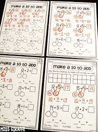making a 10 to add worksheets that are differentiated and very
