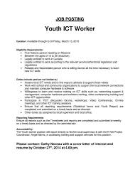 Child Care Assistant Job Description For Resume by Download Youth Worker Cover Letter Haadyaooverbayresort Com