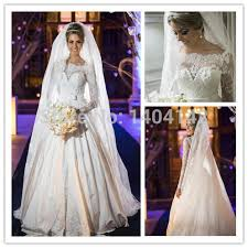elegant court train lace ball gown arabic dubai wedding dresses