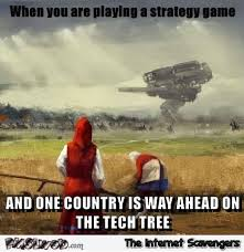 Tree Meme - when one country is way ahead on the tech tree meme pmslweb