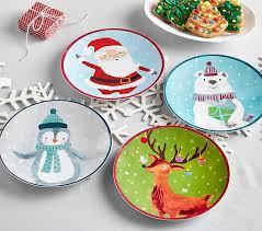 christmas plate merry bright christmas plates pottery barn kids