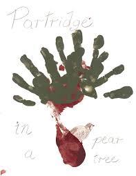 twelve days of christmas handprints and footprints healthy happy