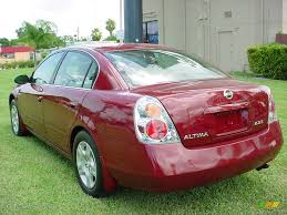 2004 Sonoma Sunset Pearl Red Nissan Altima 2 5 S 440967 Photo 3