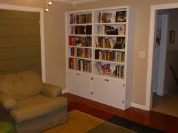 handmade built in bookshelves by carolina woodworking custommade