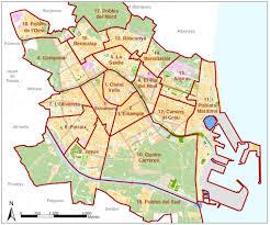Map Of Valencia Spain by Los 19 Distritos De La Ciudad De Valencia Valencia Spain