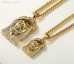 hip hop necklace images Wholesale good quality rhinestones jesus pendant franco long chain jpg