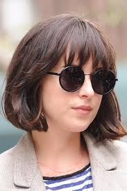 short hairstyles with glasses and bangs dakota johnson out in nyc dakota johnson pinterest dakota