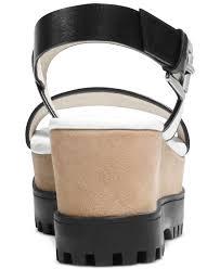 lyst michael kors michael gillian platform wedge sandals in white