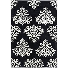 Damask Print Rug Majestic Looking Black And White Damask Rug Stunning Ideas Black