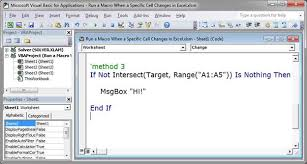 run a macro when a specific cell changes in excel teachexcel com